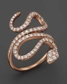 Bloomingdale's Diamond Snake Ring in 14K Rose Gold, 1.0 ct. t.w.