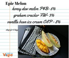 Mouth-watering e-liquid recipe from Make My Vape. Get all ingredients at www.makemyvape.co.uk