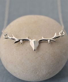 Sterling Silver Stag Pendant Necklace