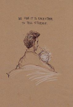 Artist Chris Riddell illustrations for a Neil Gaiman poem, 'Locks.'