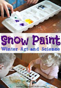 1 Snow Paint winter art science