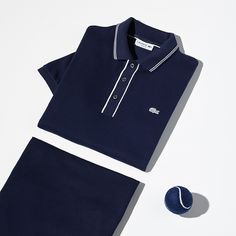 With its blue color, the  Vintage Tennis  polo celebrates Lacoste s  sporting heritage. 4d754bbb6c