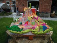 verjaardagstaart - origamidieren