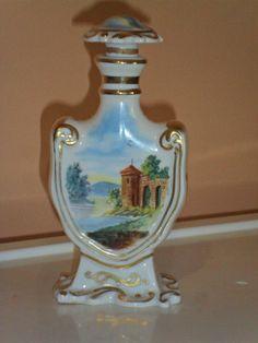 Antique Sevres France Perfume Lidded Bottle with Landscape Castle Scenes   eBay