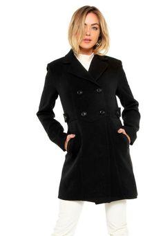 8d09adea3 Promoções, Mob casaco trench coat martingales preto