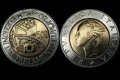 Lira italiana commemorativa 20 anni parlamento europeo per un valore di 500 Lire .jpg