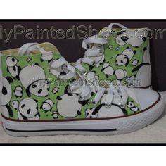 bd2df700c97 Panda converse Hand Painted Shoes Panda Shoes Custom Converse Bi