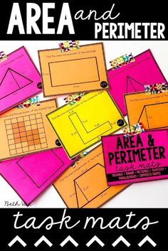 Area and Perimeter of triangles, squares, quadrilaterals, parallelograms, trapezoids, and composite shapes (the weird ones!)  Activity and fun formula wrist bands. Perfect for 4 5 6.