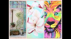 ManosalaObraTv 2018 Programa 5 - Pintar Cuadros - Suculentas - Sellos y ... Decoupage, Stencils, Painting, Shower, Artwork, Youtube, Diy, Painting Videos, Roses