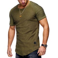 748002e8ad7e Newchic Men s Tees   Tank Tops · US  18.34 - Mens Summer Breathable Solid  Color Irregular Hem O-neck Short Sleeve