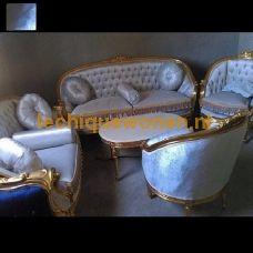 Barok Set  Arabica Sahara Gold  Moon Bleu Velvet