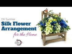 In this video, create a DIY Summer Silk Flower Arrangement for your home using a wooden bench. Easter Flower Arrangements, Easter Flowers, How To Make Wreaths, How To Make Bows, Bench Decor, Halloween Lanterns, Summer Diy, Ribbon Bows, Silk Flowers