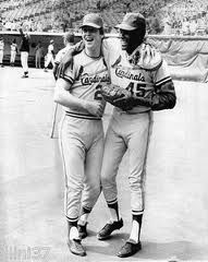 Ted Simmons and Bob Gibson in 1971