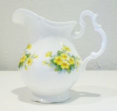 Vintage Royal Albert England Bone China Creamer Jug Yellow Primrose Drury Lane | eBay