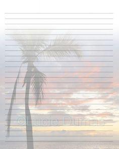 Printable Journal Page Stationary 8x10 JPG Download Scrapbooking Paper Digital…