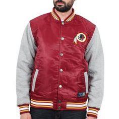 Majestic Athletic - Lambert Mix Fabric Redskins Jacket Burgundy
