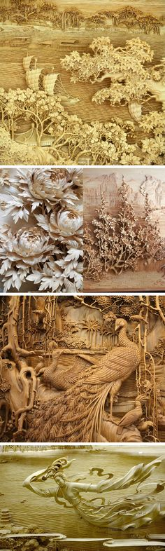 The exquisite detail of traditional Chinese dongyang wood carving – Woodworking 2020 Colossal Art, Art Carved, Wood Sculpture, Ancient Art, Chinese Art, Traditional Chinese, Asian Art, Japanese Art, Wood Art