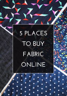 5 Places to Buy Fabric Online / The Crafted Life Fabric Crafts, Sewing Crafts, Sewing Projects, Diy Crafts, Techniques Couture, Sewing Techniques, Sewing Hacks, Sewing Tutorials, Sewing Tips