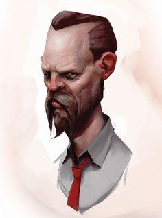 Tough Guy Eh?, Jonathan Fletcher on ArtStation at https://www.artstation.com/artwork/yQ4wx