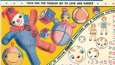 Vogart 161 Vintage Crochet & Embroidery for Childrens Toys. A 1950s pattern.