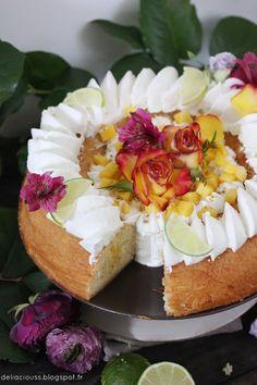 Baba au rhum au citron vert et à la noix de coco Fruit Recipes, My Recipes, Sweet Recipes, Healthy Recipes, Vegan Cake, Camembert Cheese, Ice Cream, Cream Cake, Cheesecake