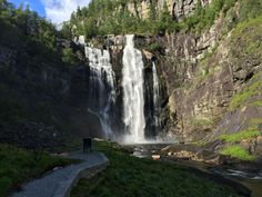 thisearthisawesome: Skjervsfossen Waterfall Near Voss - Norway...