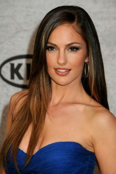 Minka Kelly  I love her hair! Thinking about doing my hair this color