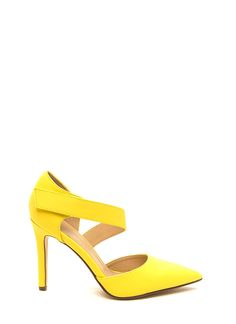 Heavenly Angle Faux Leather Heels