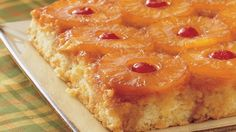 Bake a classic dessert!  Buttery rich and caramely pineapple take this yellow cake.