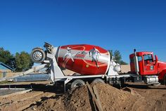 The Lobos Cement Trucks roll in to campus. Semi Trucks, Big Trucks, Ready Mixed Concrete, Southwestern College, Cement Mixer Truck, Concrete Mixers, Historical Images, Motorcycles, Construction