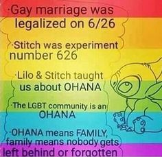 YAY stich and lgbtq+ rights!