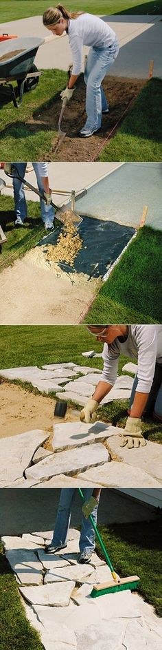 101 Gardening: How to install a stone walkway