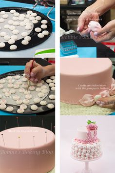 Fondant Billow Weave Step by Step tutorial, check out the full tutorial: http://bobbiesbakingblog.com/blog/2013/05/01/fondant-billow-weave-tutorial/