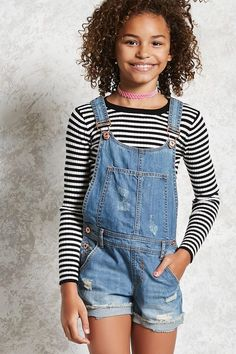 Product Name:Girls Overall Shorts (Kids), Category:girls_main, Fashion Kids, Fashion 101, Fashion Shops, Latest Fashion, Forever 21 Outfits, Cute Summer Outfits, Holiday Outfits, Summer Clothes, Winter Clothes
