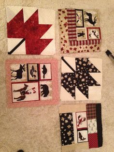 Canadian quilt with many different blocks