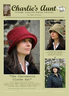 Charlie's Aunt Chelsworth Cloche Hat - Downloadable Pattern