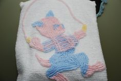 Vintage Cotton Cheniile Crib Spread by Nogginsandnapes on Etsy, $20.00