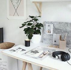 aesthetic, bedroom, desk, home, inspiration, love, luxury, minimal, minimalism, minimalistic, plant, simple, white