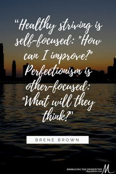 Are you exhausted trying to reach for perfection?