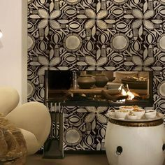 If you like the haute African Tribal Patterns that have been taking over design, bring the African Circle of Life Wall Stencil Pattern to your home decor! This