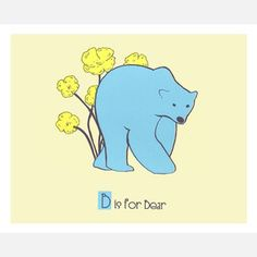 B is for Bear 14x11, now featured on Fab.