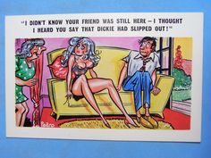 PEDRO Comic Postcard 1960s Pin Up - Dickie Theme No 164 | eBay
