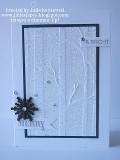 Julie Kettlewell - Stampin Up UK Independent Demonstrator - Order products 24/7: Sparkly Woodland