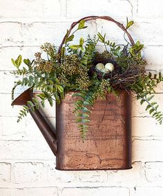 Another great find on #zulily! Watering Can Floral Arrangement #zulilyfinds