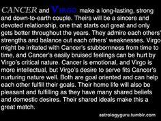 Virgo cancer romance