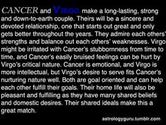 Aww! The stars have spoken...We are going to be fabulous! lol The Astrology Guru - Cancer compatibility with Virgo
