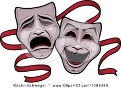 Comedy and Tragedy clipart