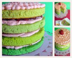 Green ombre Cake, por Rosel