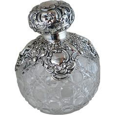 Sterling Silver and Crystal Perfume Bottle – Chester 1899