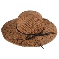 Chic Rope Lace-Up Embellished Hollow Out Crochet Women's Straw Hat #shoes, #jewelry, #women, #men, #hats, #watches, #belts